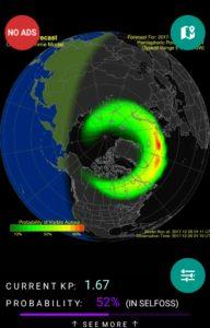 オーロラ活動予測アプリ:Northern eye