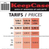 仏エクサンプロバンス唯一のコインロッカー「KeepCase」3.9ユーロ/3h~