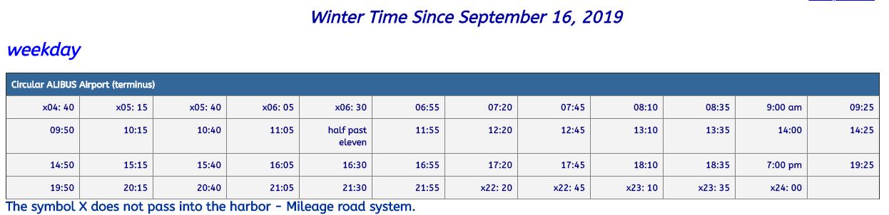 catania-airport-bus timetable 2019