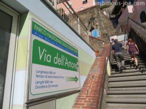 Via dell'Amore entrance Riomaggiore side