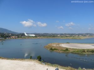 corfu airport panorama view