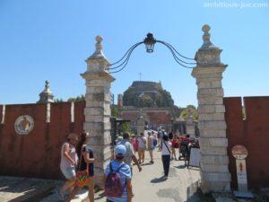 corfu old fortress gate