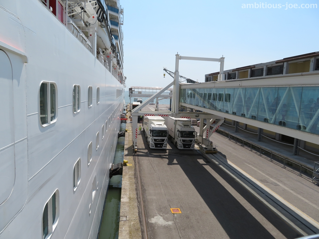 cruise embarkation bridge