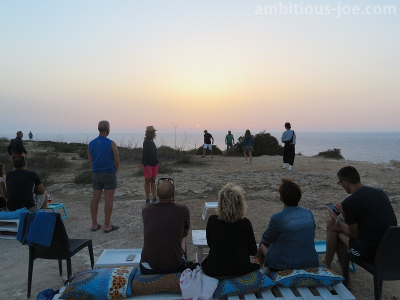 Lampedusa sunset cafe