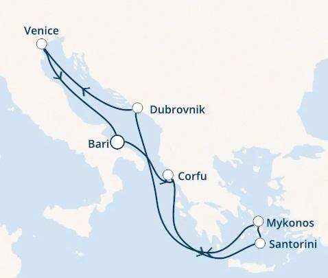東地中海の人気クルーズコースを分析・自己手配('20はコスタ・ルミノーザ号)