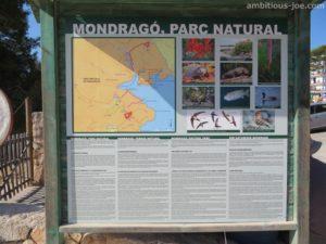 Mondrago park sign
