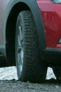 Mazda CX-3 spike tire