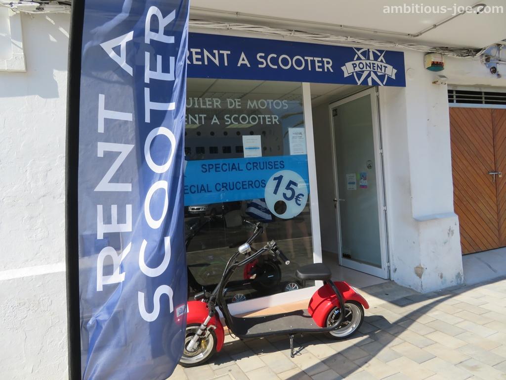 menorca scooter shop