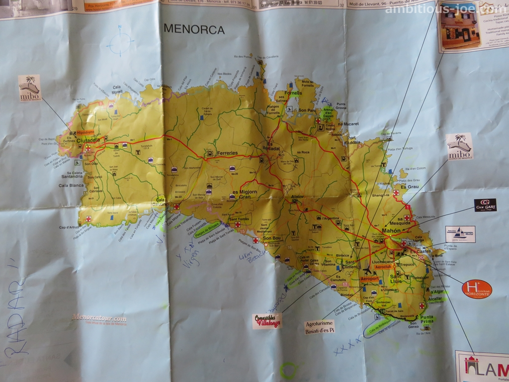 menorca local map