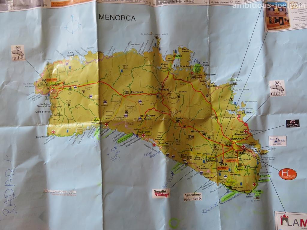 menorca local map