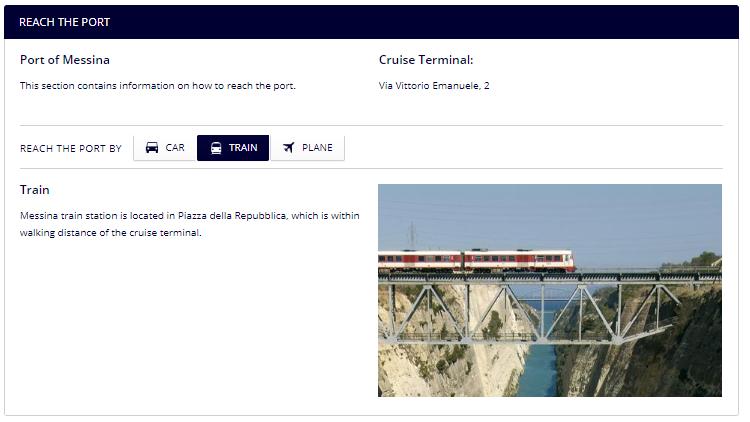 messina port location explanation