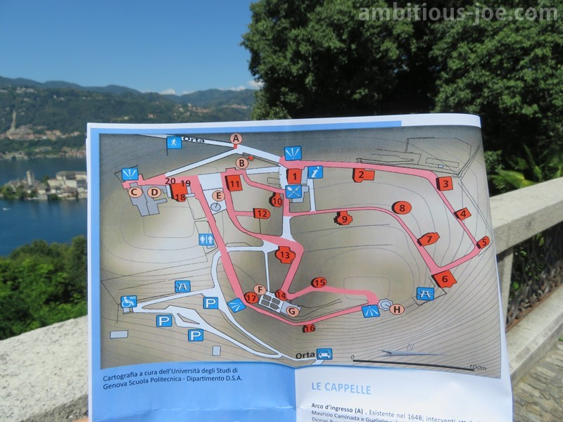 map of sacro monte