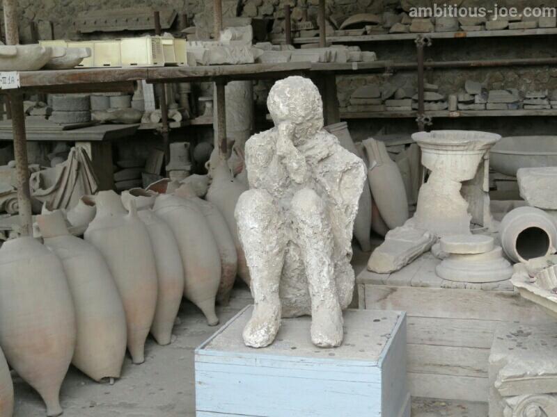 ポンペイ遺跡、火山灰に埋まった人2
