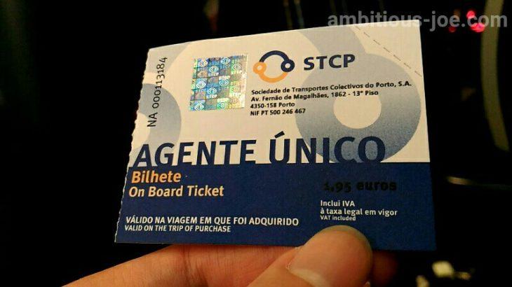 ポルト空港から市内はバスも最安1.95ユーロ、所要30分