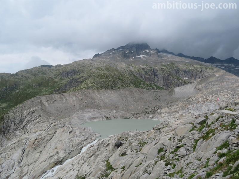 glacier lake and fall