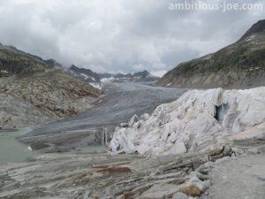 end of glacier