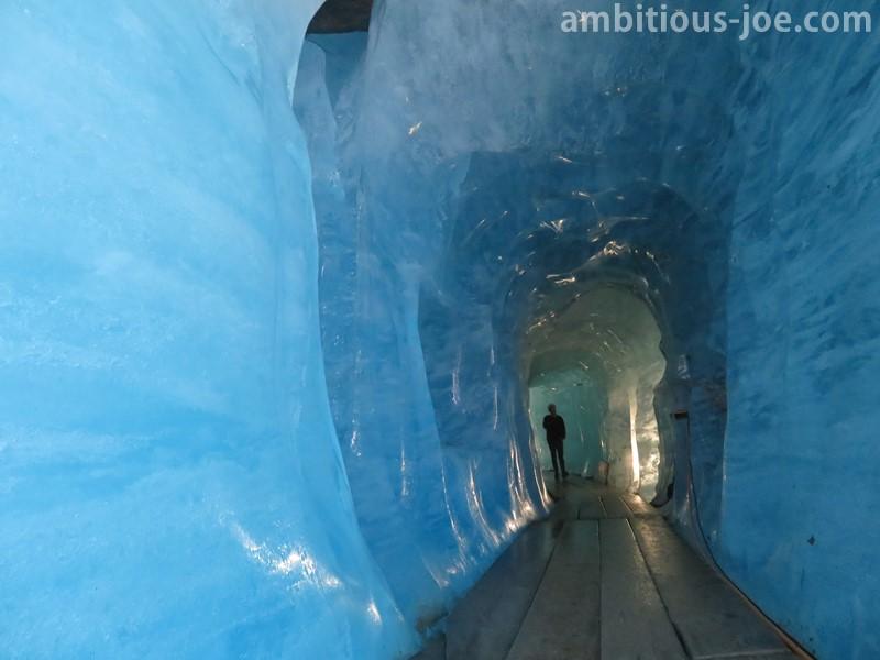 inside of the glacier