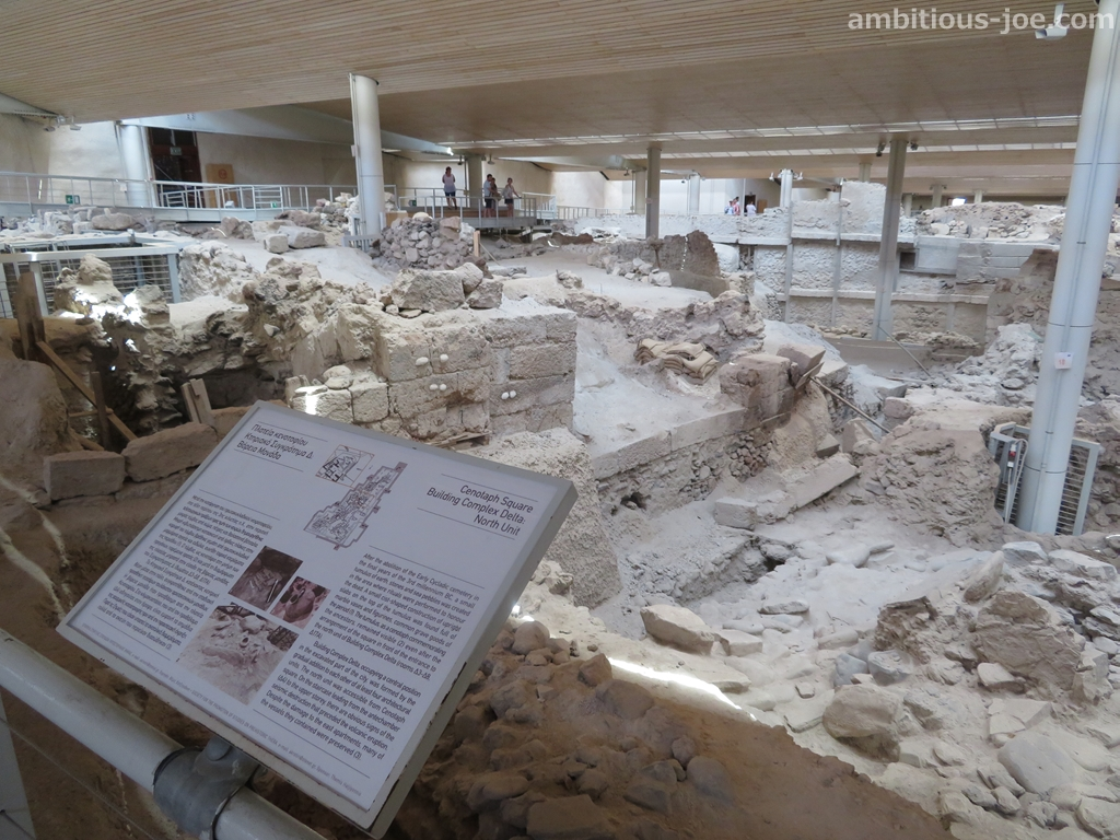 akrotiri ancient ruin