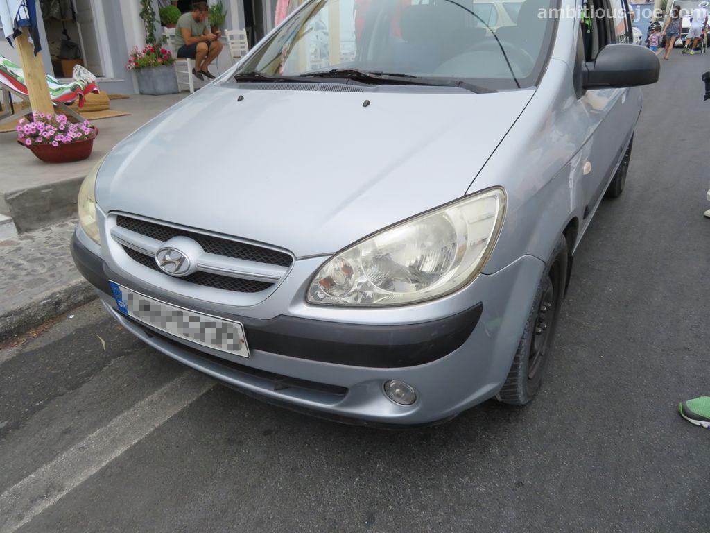 santorini rental car Hyundai
