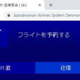 スカンジナビア航空は完全日本語で予約可能!荷物とチェックイン規定