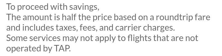 TAPポルトガル航空登録、ログイン後