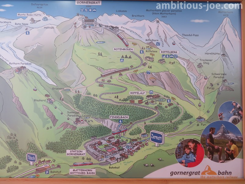 Gornergrat bahn map