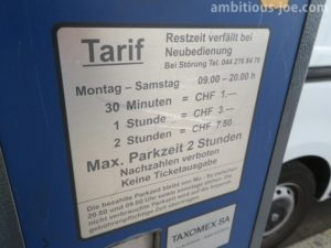 zurich-road side park price
